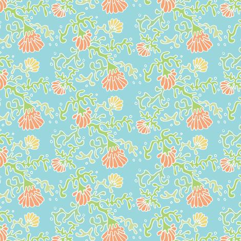 seaflowers blue fabric by atomic_bloom on Spoonflower - custom fabric