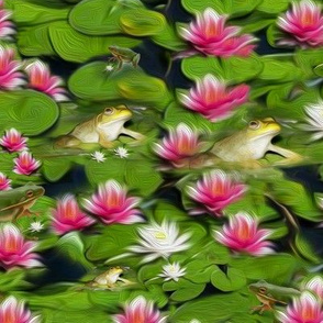 Frogs And Lilies