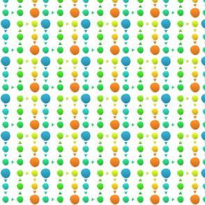 Dot Triangle-Blue/Orange