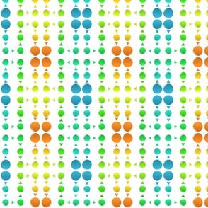 Dot Triangle Mirror-Orange/Blue