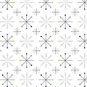 Atomic Pins and Needles White