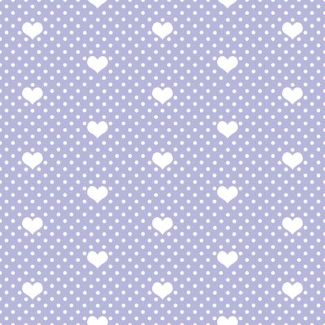 Polka Dot Heart Lavender fabric by thistleandfox on Spoonflower - custom fabric