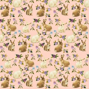 Bunnies in the Garden, Peach