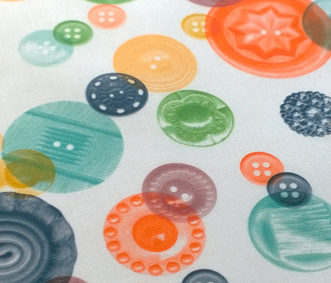 Who's Got the Button? || vintage buttons sewing notions circles polka dots scatter