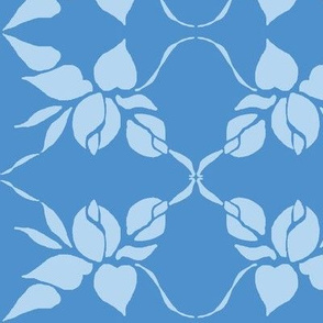 Sweetheart Rose lattice in Pale Blue and Midnight