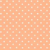 polka dot - white on apricot pink