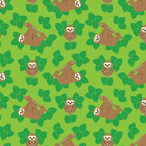 Stanley Sloth fabric by joannepaynterdesign on Spoonflower - custom fabric