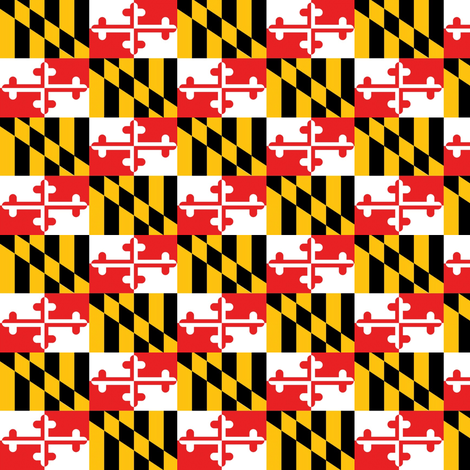 MD Flag Maryland fabric by froggypants on Spoonflower - custom fabric