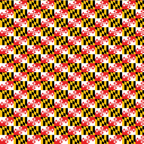 MD Flag Maryland Smaller fabric by froggypants on Spoonflower - custom fabric