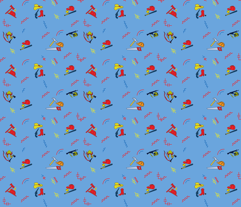 Chucky Good Guys - Lighter Blue fabric by w855173w on Spoonflower - custom fabric
