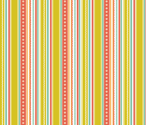 Ric Rac and Ribbons fabric by jillbyers on Spoonflower - custom fabric