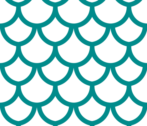 fish_scales_peacock fabric by holli_zollinger on Spoonflower - custom fabric