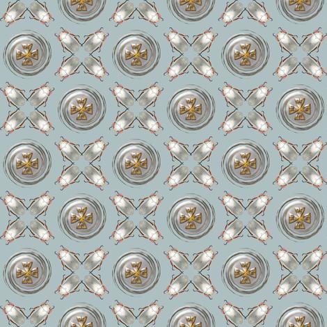 silver scarab medallion fabric by keweenawchris on Spoonflower - custom fabric