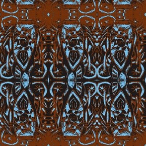 Woodblock -orange and blue-ch-ch