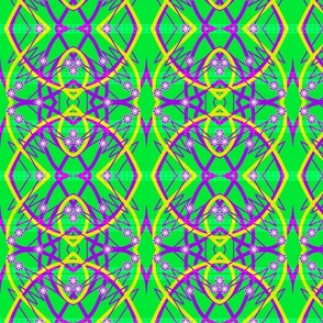 scribbles and lines on green 3