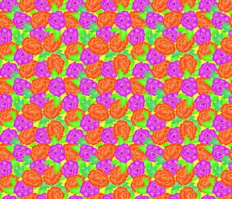 Bright Roses fabric by livecolorful on Spoonflower - custom fabric