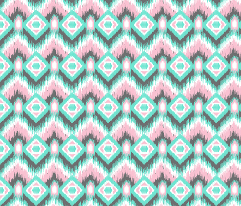 Pastel Ikat fabric by joannepaynterdesign on Spoonflower - custom fabric