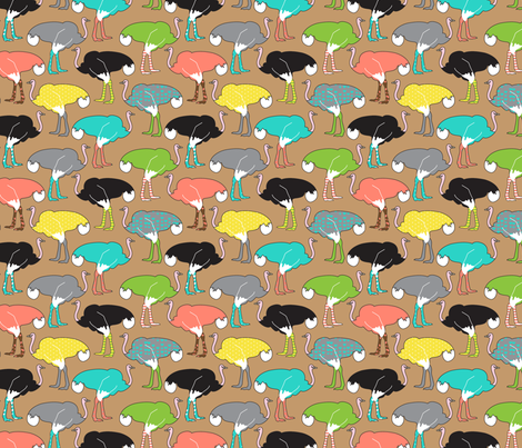 Ostrich Socks fabric by joannepaynterdesign on Spoonflower - custom fabric