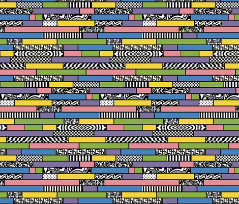 Changing my Stripes pastel horizontal fabric by whimzwhirled on Spoonflower - custom fabric