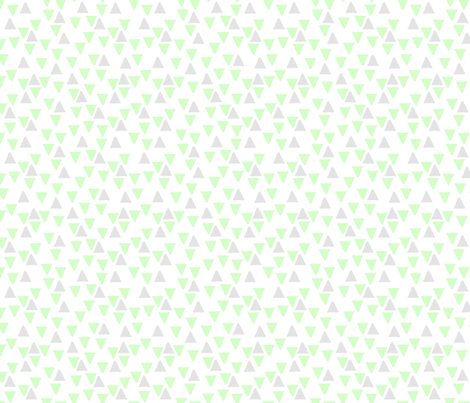 Triangles Mint and Grey fabric by mspiggydesign on Spoonflower - custom fabric