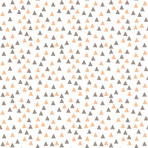 Triangles Peach and Grey