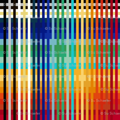 Ancient Egyptian color plaid (limited palette) by Su_G