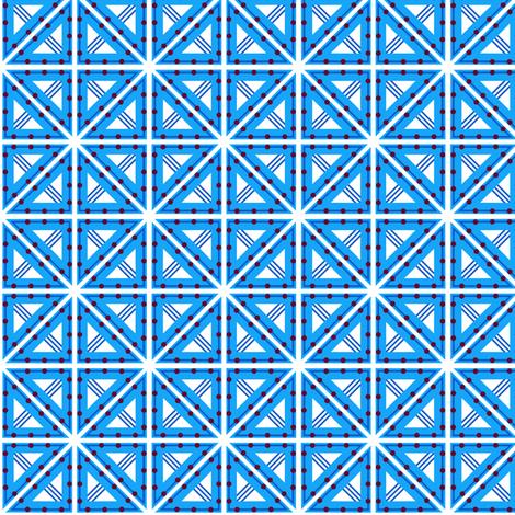 Kolonaki Triangles - B. B. White fabric by siya on Spoonflower - custom fabric