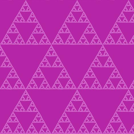 Sierpinski Triangle - orchid fabric by weavingmajor on Spoonflower - custom fabric