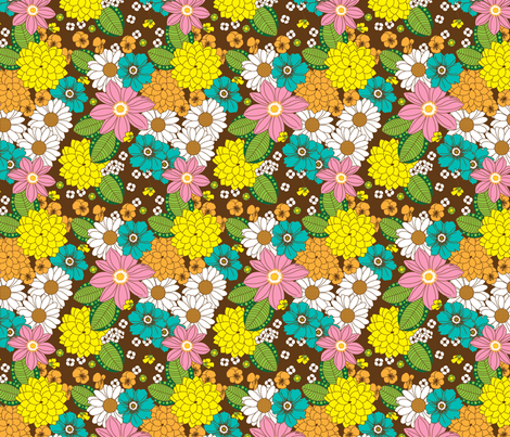 Spring Floral fabric by joannepaynterdesign on Spoonflower - custom fabric