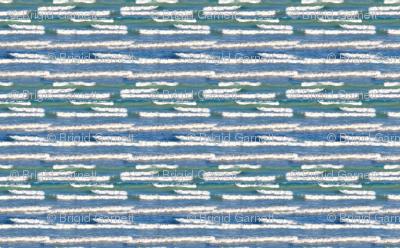 Lake Michigan Watercolor Waves