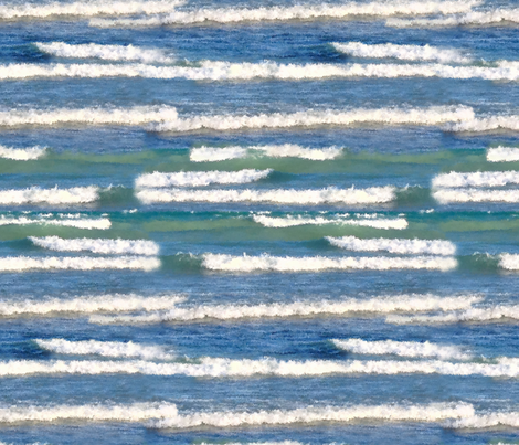 Lake Michigan Watercolor Waves fabric by bags29 on Spoonflower - custom fabric