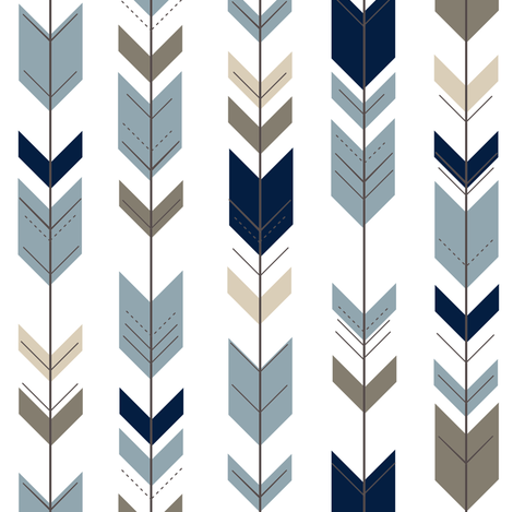 Fletching Arrows (small scale) // Rustic Woods Collection fabric by littlearrowdesign on Spoonflower - custom fabric
