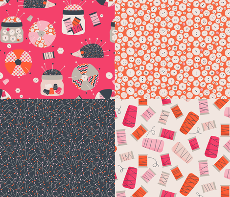Sewing Bits and Bobs fabric by badger&bee on Spoonflower - custom fabric