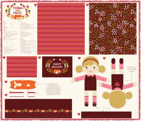 1_yard_doll_template_Fiona_option_2 fabric by stacyiesthsu on Spoonflower - custom fabric