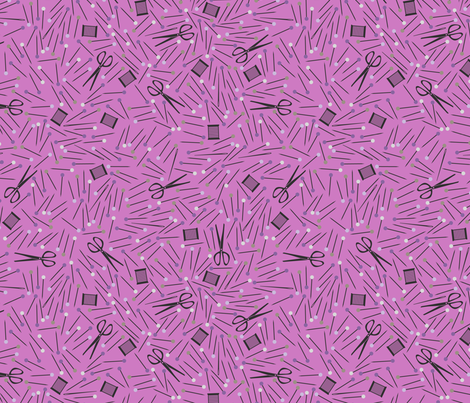 Pins & Needles fabric by robyriker on Spoonflower - custom fabric