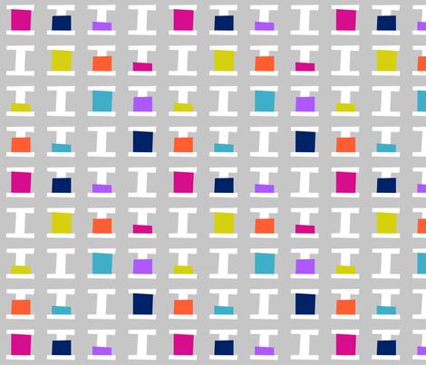 Thread Spools Grey fabric by modgeek on Spoonflower - custom fabric