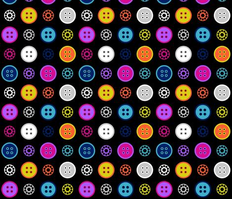 Button and Bobbin Dot Black fabric by modgeek on Spoonflower - custom fabric