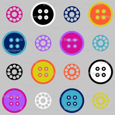 Button and Bobbin Dot Grey