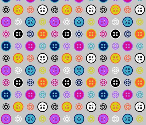 Button and Bobbin Dot Grey fabric by modgeek on Spoonflower - custom fabric