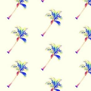 Palm tree diagonal in cream