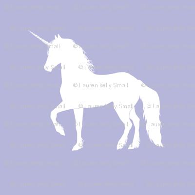Prancing Unicorn on Lavender