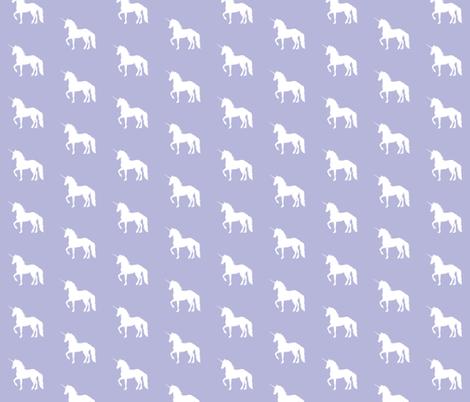 Prancing Unicorn on Lavender fabric by thistleandfox on Spoonflower - custom fabric