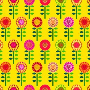 flora retro flowers