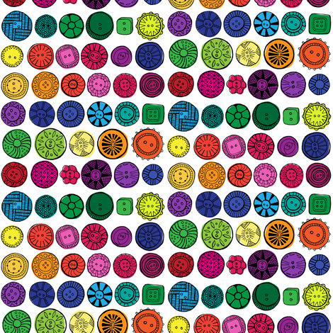 vintage buttons small fabric by doris&fred on Spoonflower - custom fabric