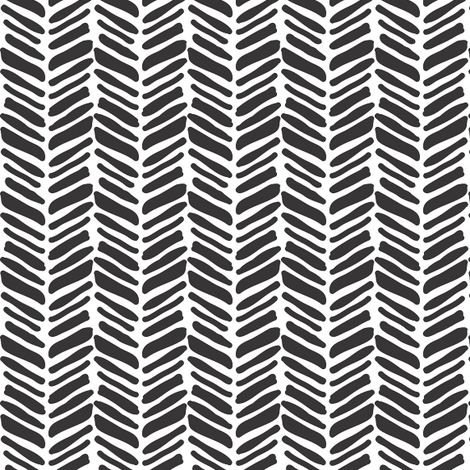 painted herringbone black fabric by coramaedesign on Spoonflower - custom fabric