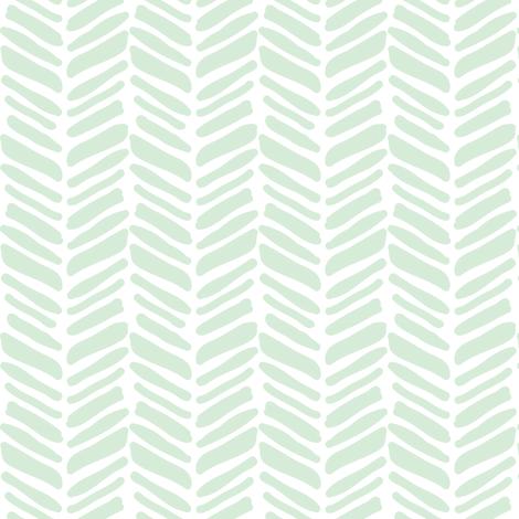 mint painted herringbone fabric by coramaedesign on Spoonflower - custom fabric
