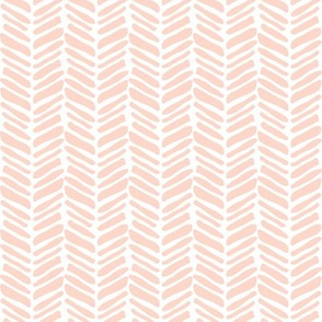 coral painted herringbone