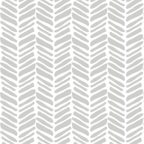 painted grey herringbone fabric by coramaedesign on Spoonflower - custom fabric