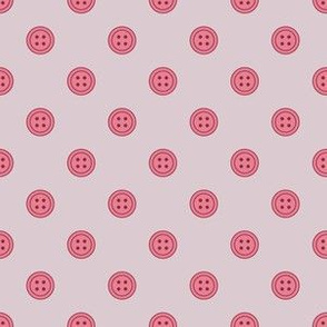 Button Polka Dots Berry on Lavender