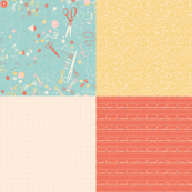 Notions + Scissors + Grid + Pins